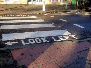 アメリカ 横断歩道