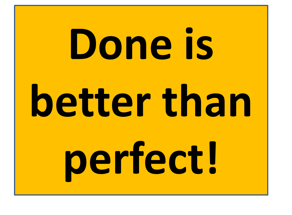まず終わらせろ!Done is better than perfect!!